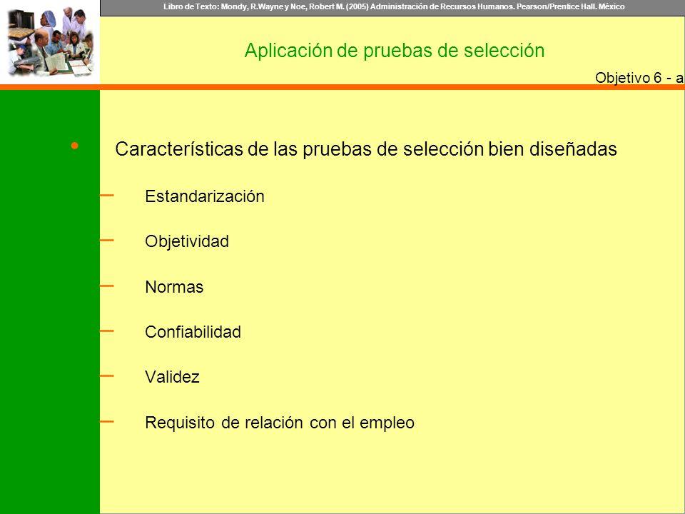 Aplicación de pruebas de selección