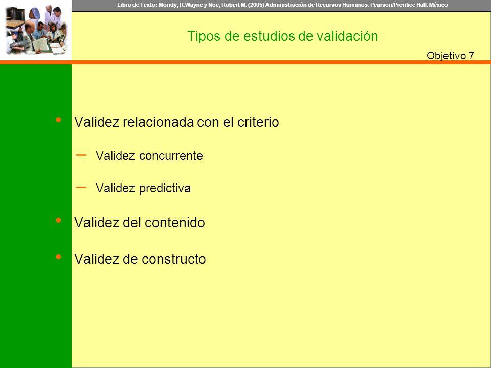 Tipos de estudios de validación