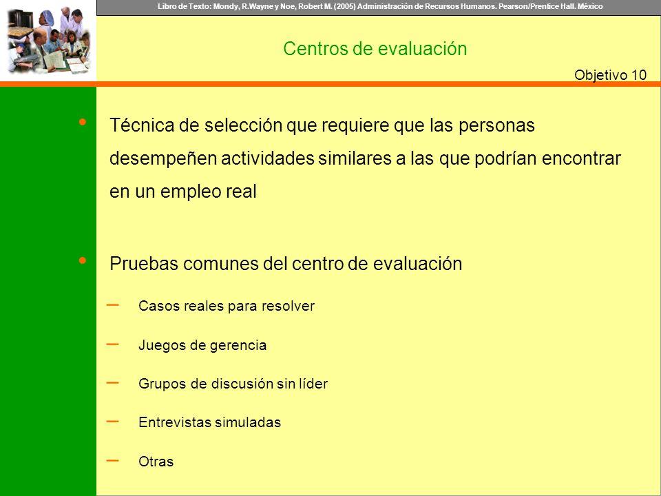 Pruebas comunes del centro de evaluación