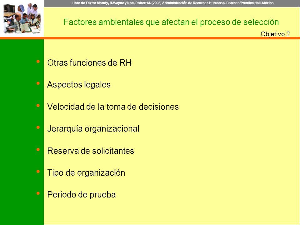 Factores ambientales que afectan el proceso de selección