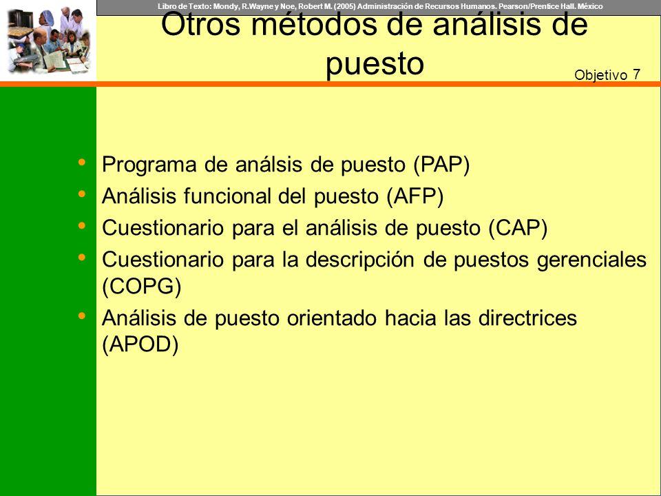 Otros métodos de análisis de puesto