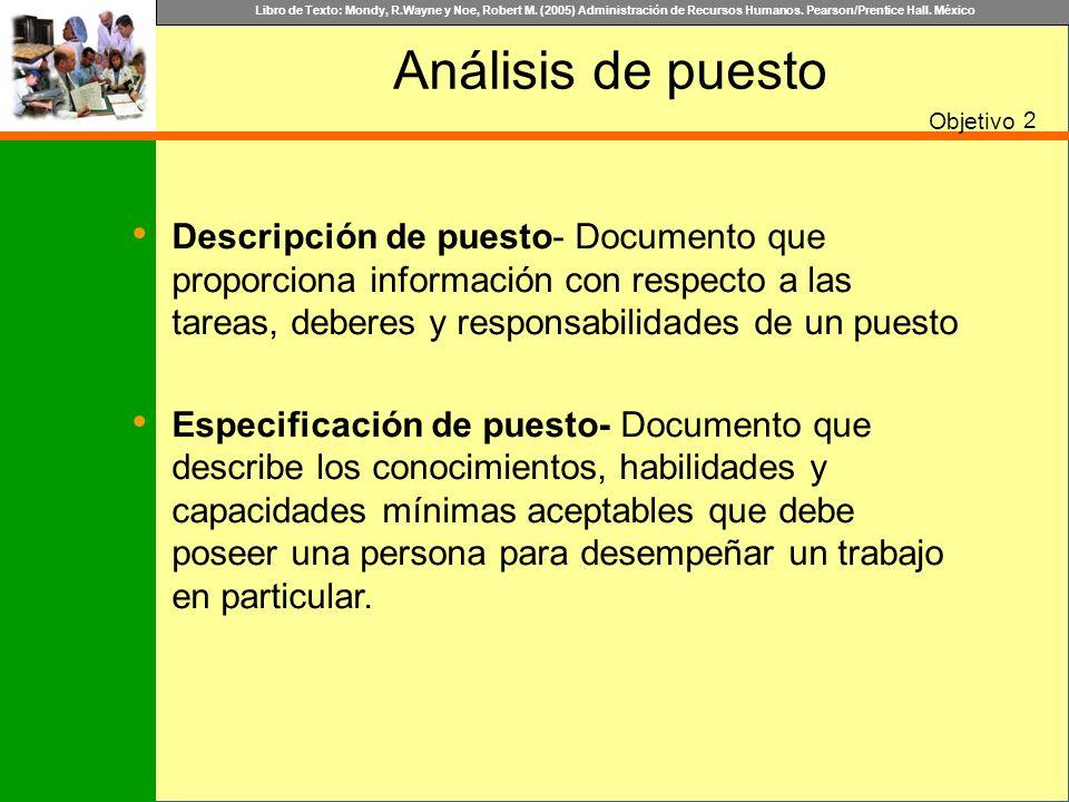 Análisis de puesto Objetivo. 2.