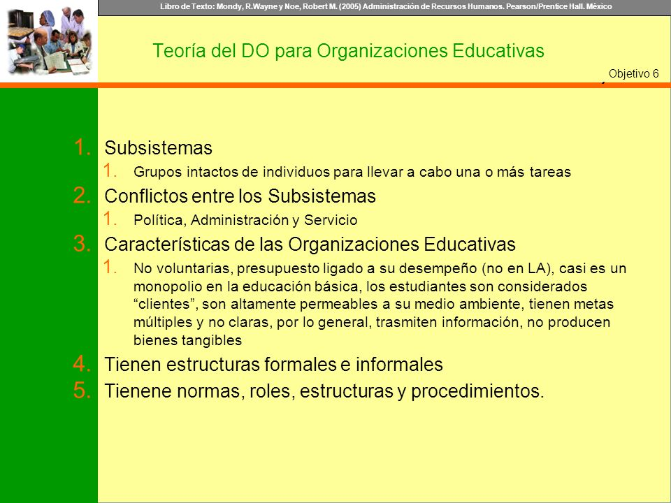Teoría del DO para Organizaciones Educativas