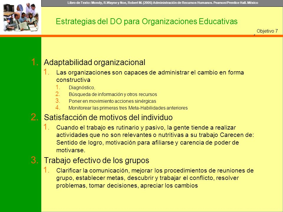 Estrategias del DO para Organizaciones Educativas
