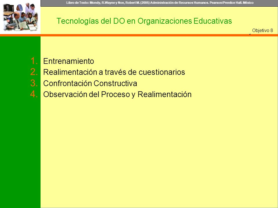 Tecnologías del DO en Organizaciones Educativas