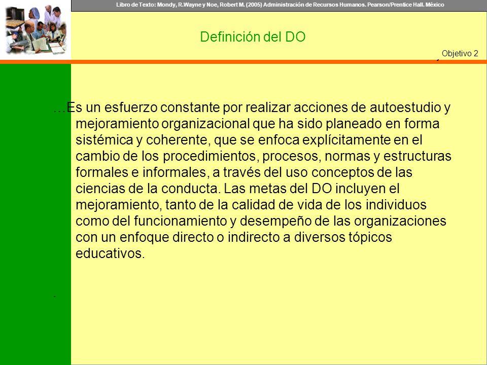 Definición del DOObjetivo 2.