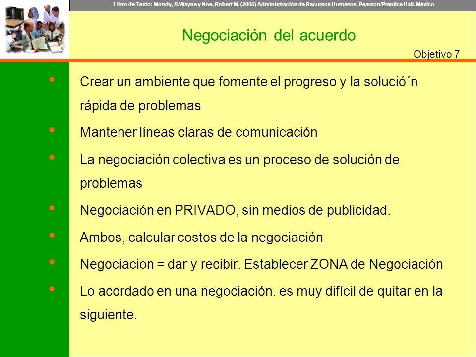 Negociación del acuerdo