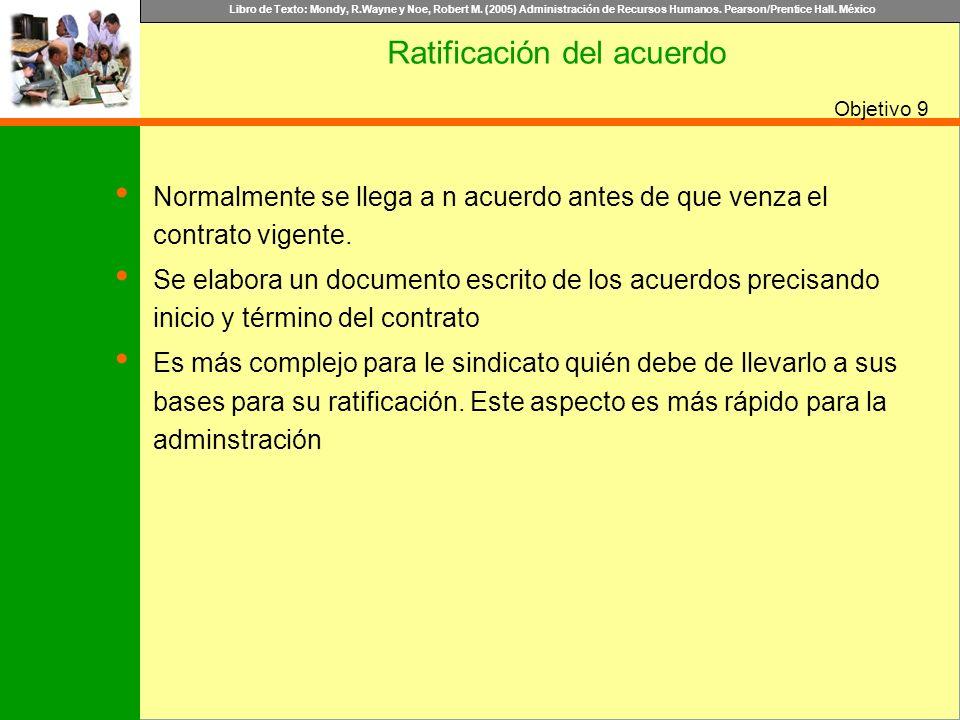 Ratificación del acuerdo