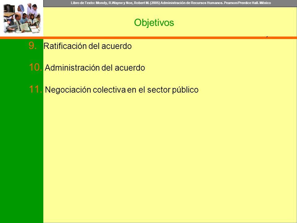 Objetivos Ratificación del acuerdo Administración del acuerdo