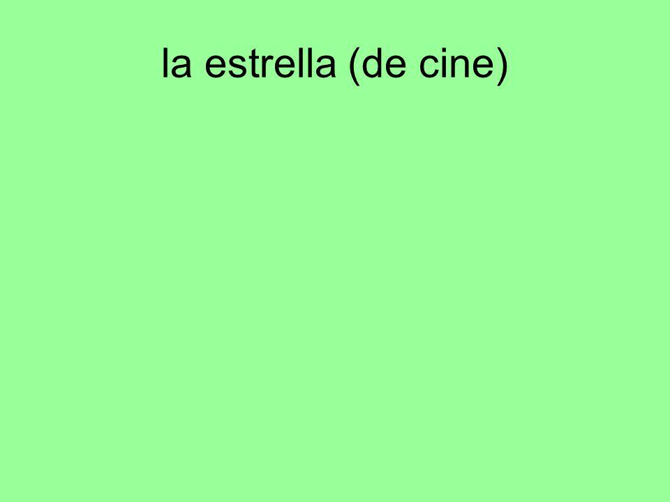 la estrella (de cine)