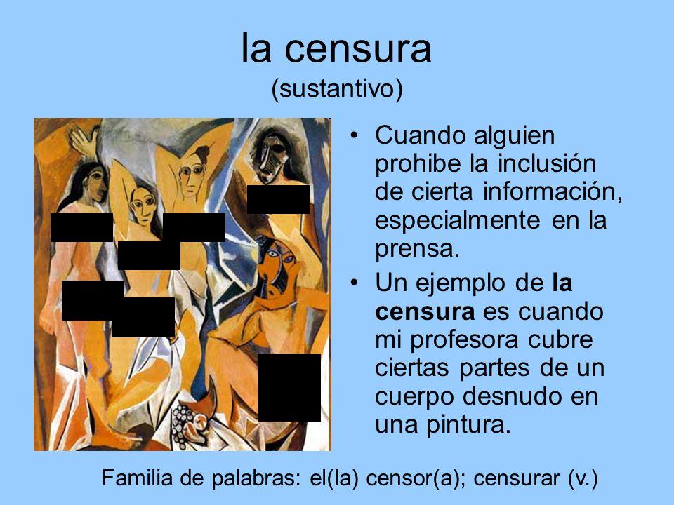 la censura (sustantivo)