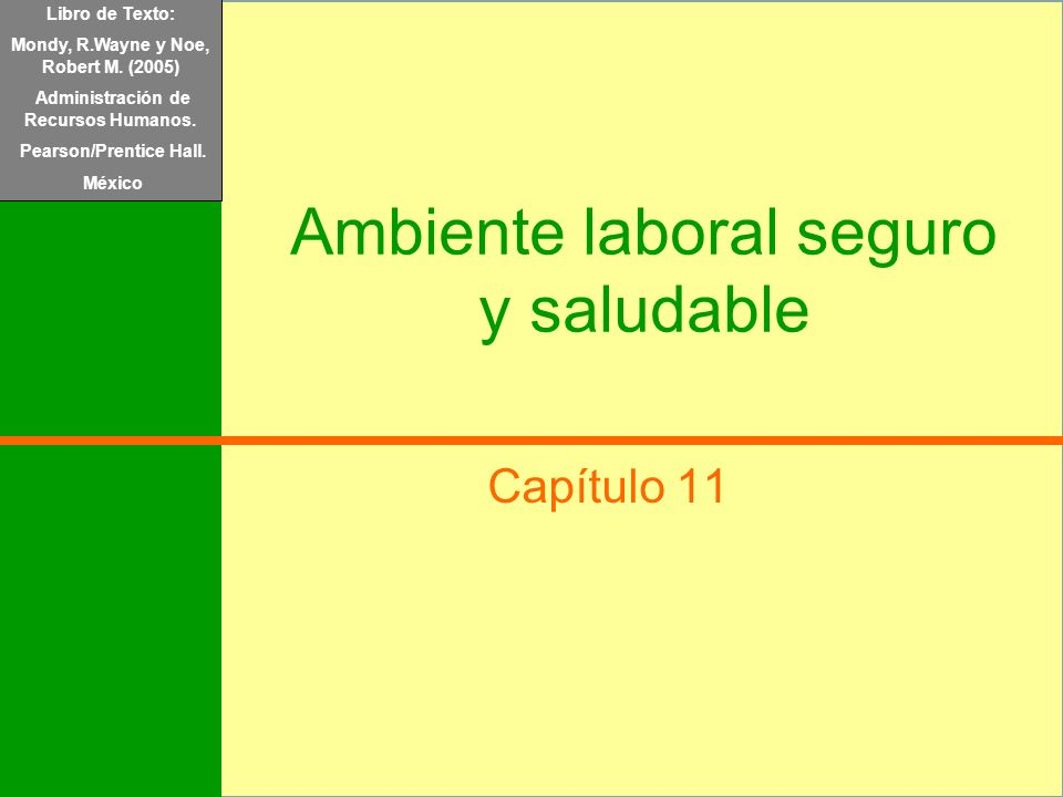 Ambiente laboral seguro y saludable