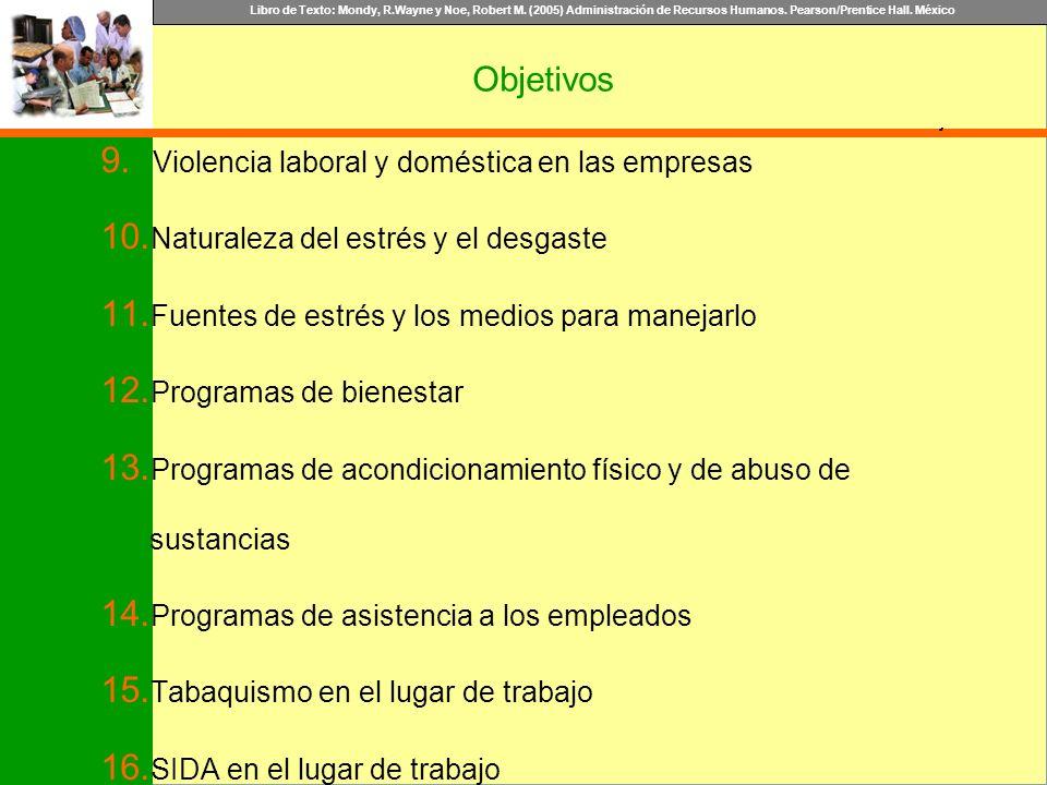 Objetivos Violencia laboral y doméstica en las empresas