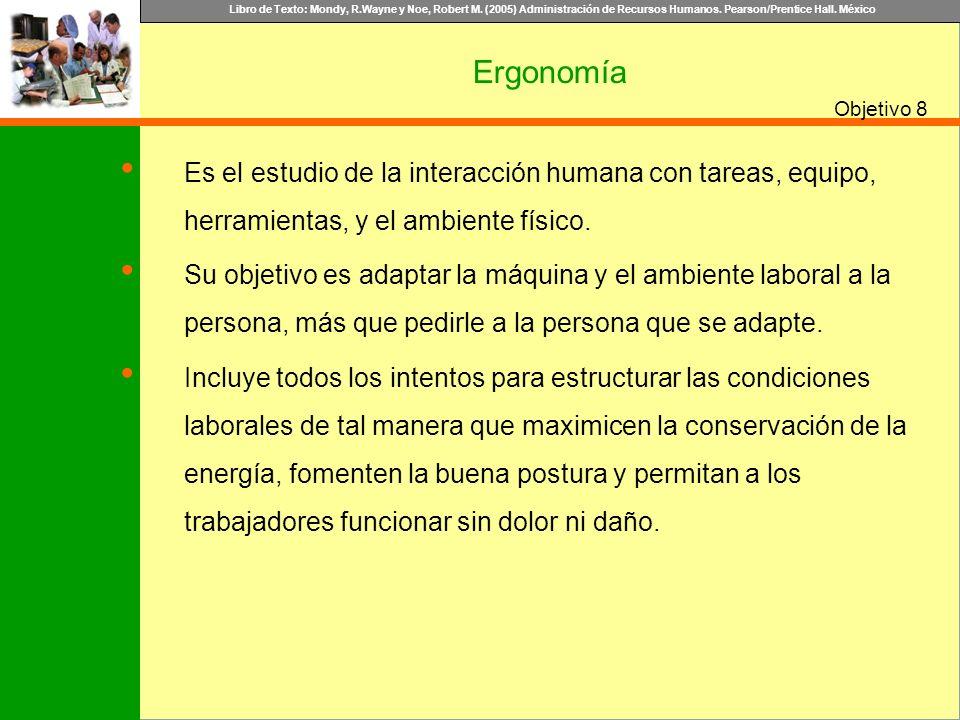 Ergonomía 8. Es el estudio de la interacción humana con tareas, equipo, herramientas, y el ambiente físico.