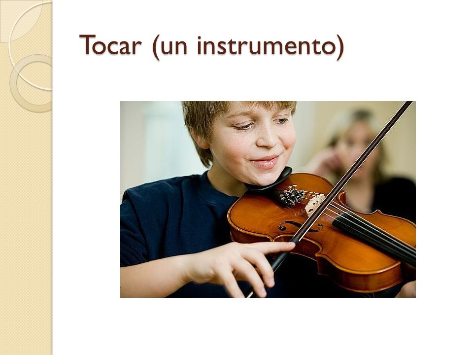 Tocar (un instrumento)