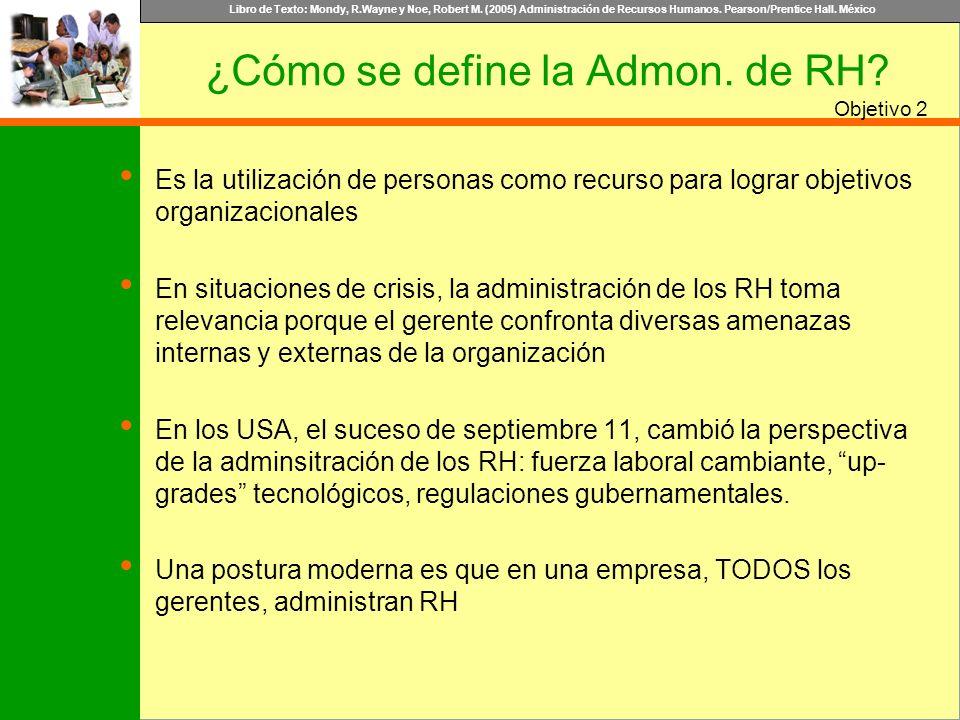 ¿Cómo se define la Admon. de RH