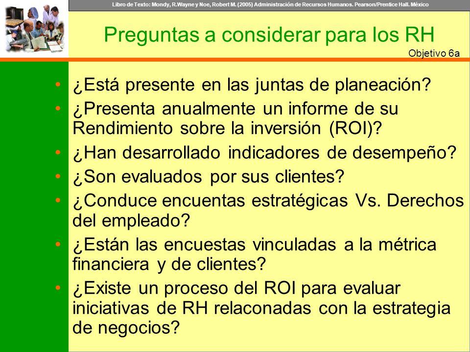 Preguntas a considerar para los RH
