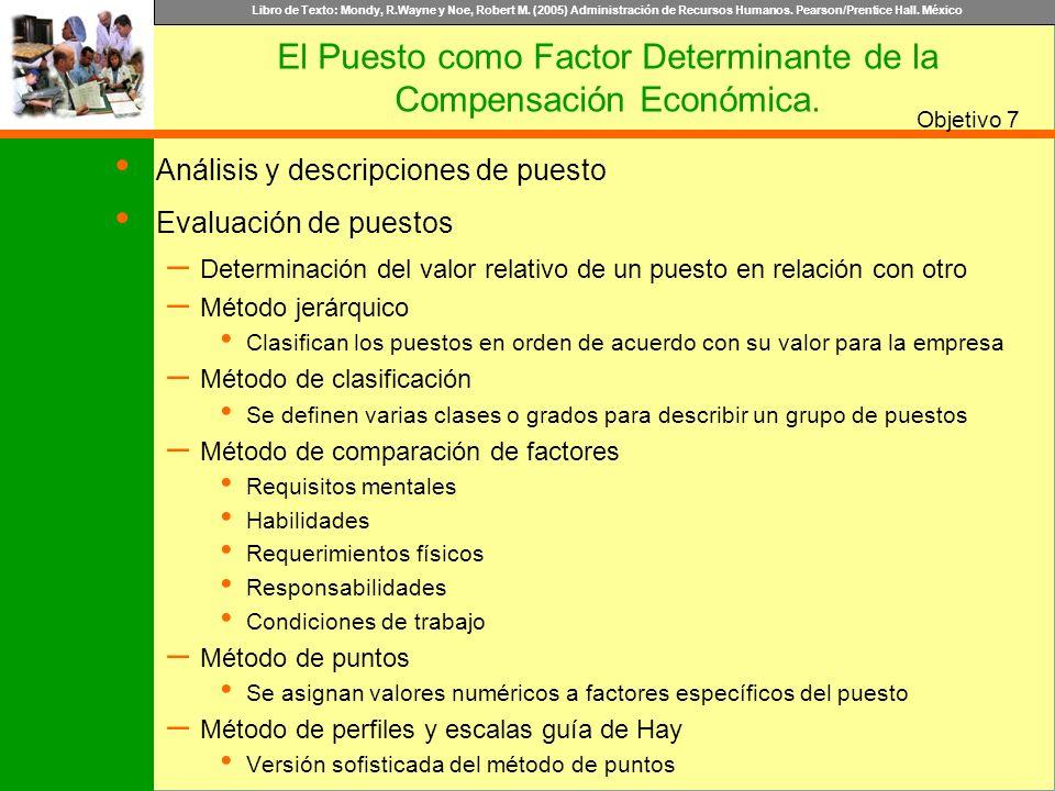 El Puesto como Factor Determinante de la Compensación Económica.