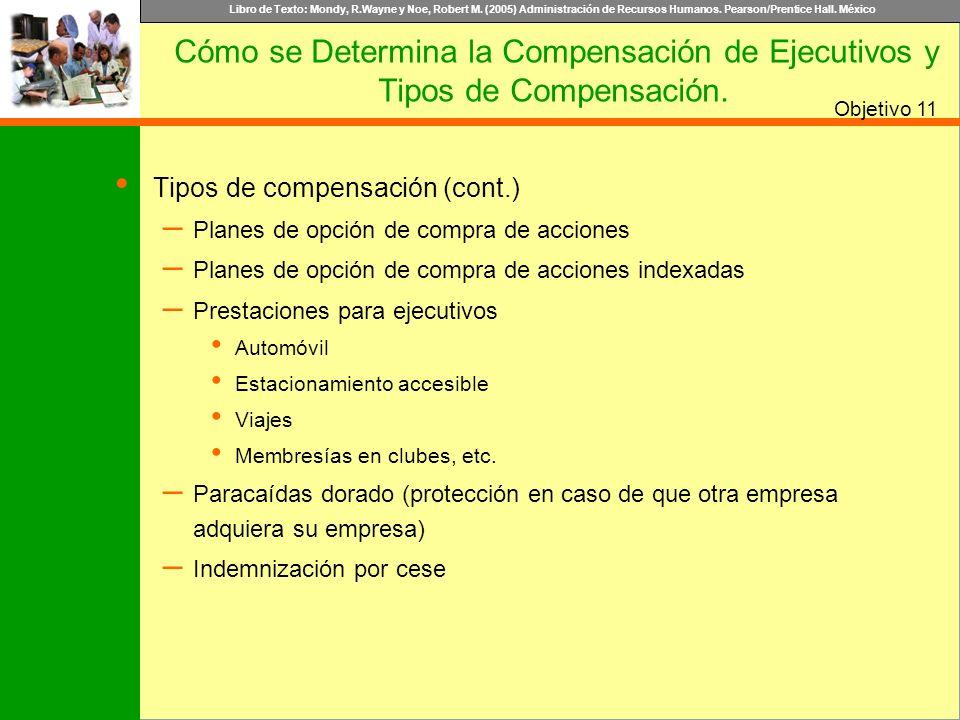 Tipos de compensación (cont.)