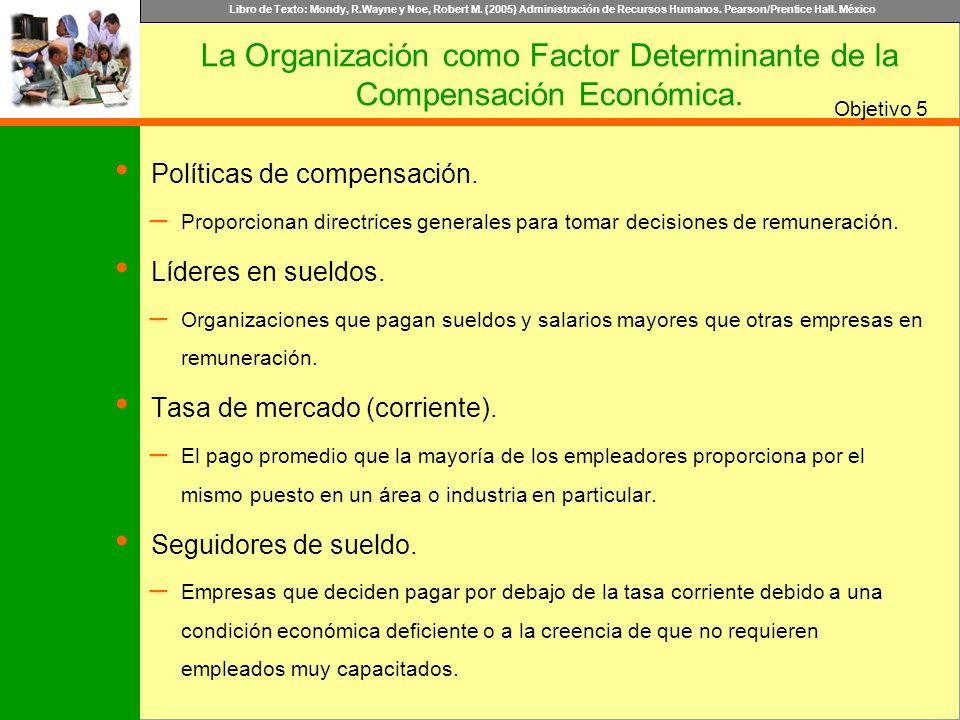 La Organización como Factor Determinante de la Compensación Económica.