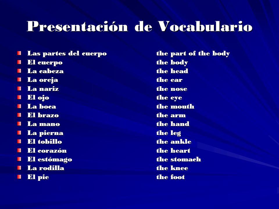 Presentación de Vocabulario