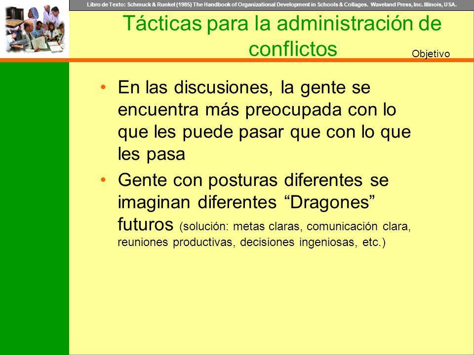 Tácticas para la administración de conflictos