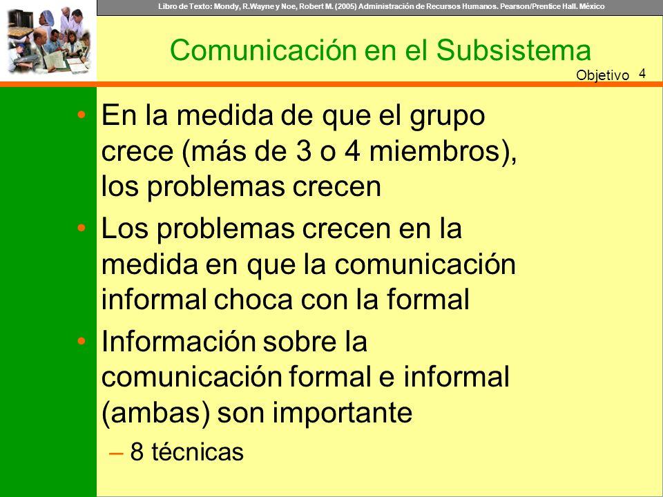 Comunicación en el Subsistema