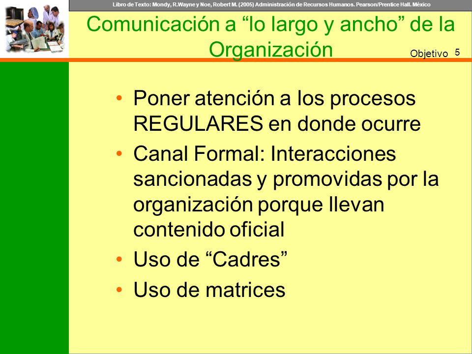 Comunicación a lo largo y ancho de la Organización