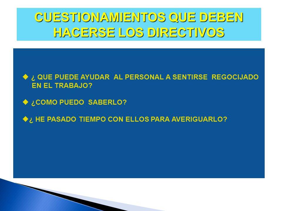 CUESTIONAMIENTOS QUE DEBEN HACERSE LOS DIRECTIVOS