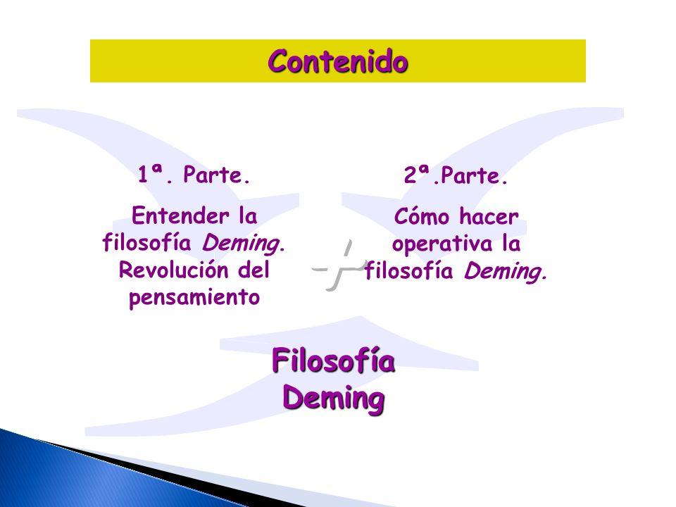 + Contenido Filosofía Deming 1ª. Parte. 2ª.Parte.