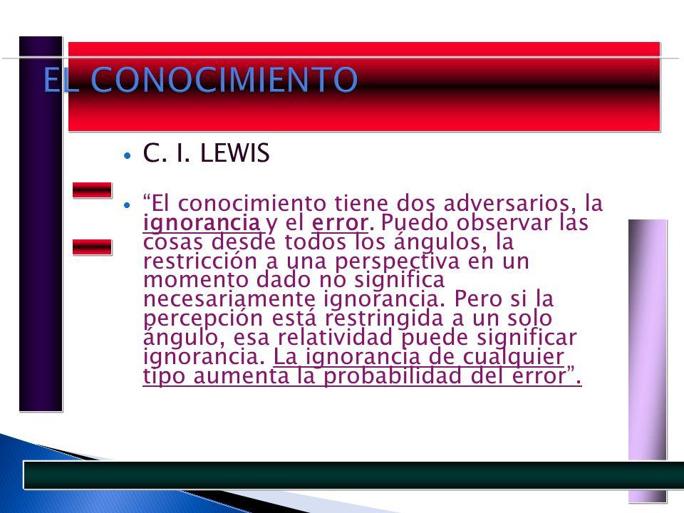 EL CONOCIMIENTO C. I. LEWIS