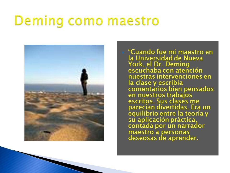 Deming como maestro