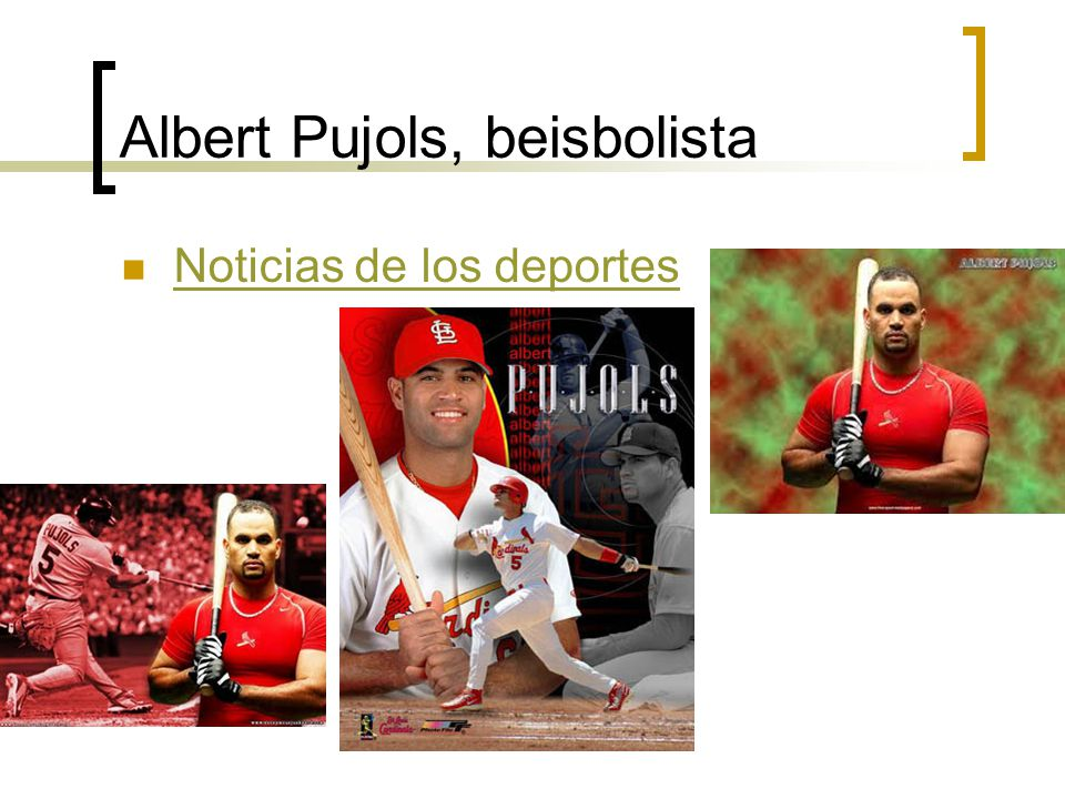 Albert Pujols, beisbolista