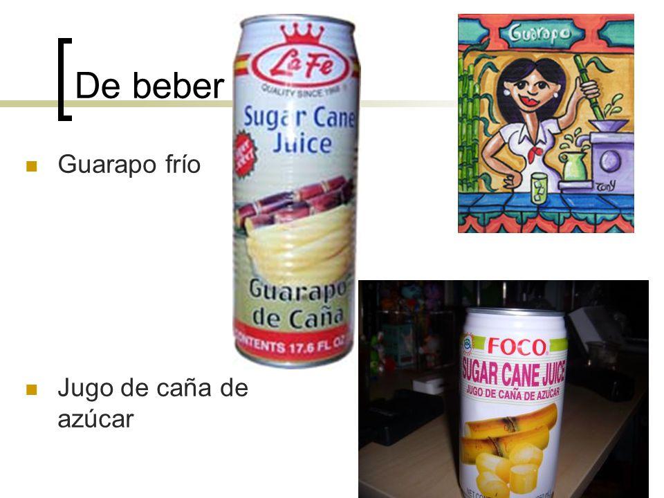 De beber Guarapo frío Jugo de caña de azúcar