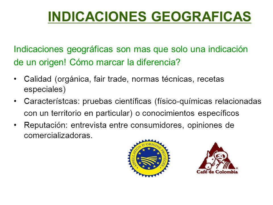INDICACIONES GEOGRAFICAS