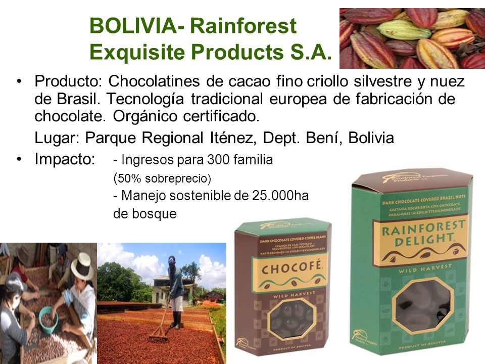 BOLIVIA- Rainforest Exquisite Products S.A.