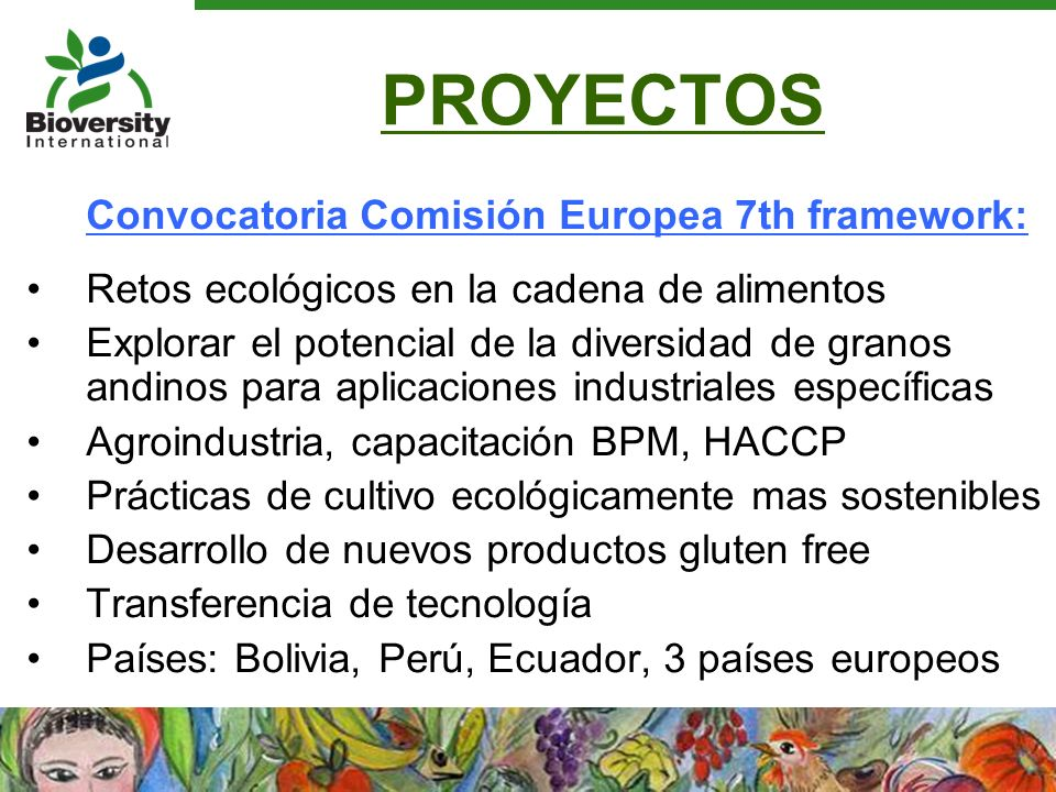 PROYECTOS Convocatoria Comisión Europea 7th framework: