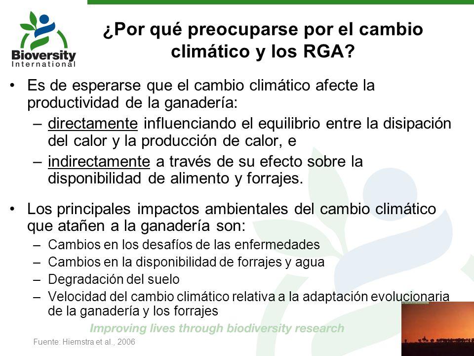 ¿Por qué preocuparse por el cambio climático y los RGA