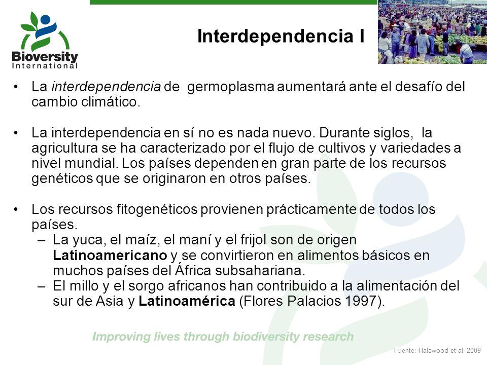 Interdependencia I La interdependencia de germoplasma aumentará ante el desafío del cambio climático.