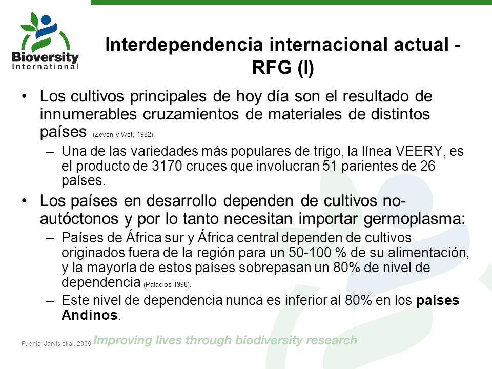Interdependencia internacional actual - RFG (I)