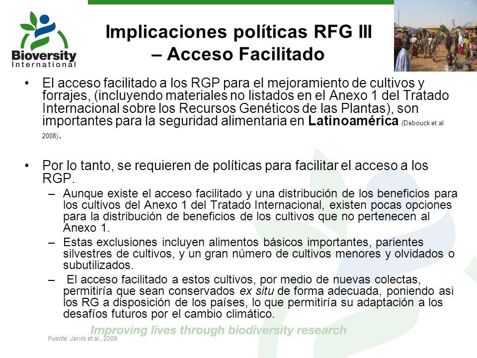 Implicaciones políticas RFG III – Acceso Facilitado
