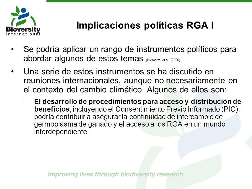 Implicaciones políticas RGA I