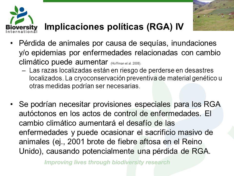 Implicaciones políticas (RGA) IV