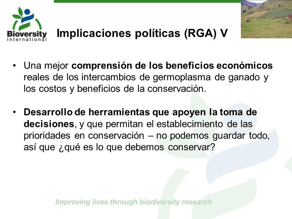 Implicaciones políticas (RGA) V
