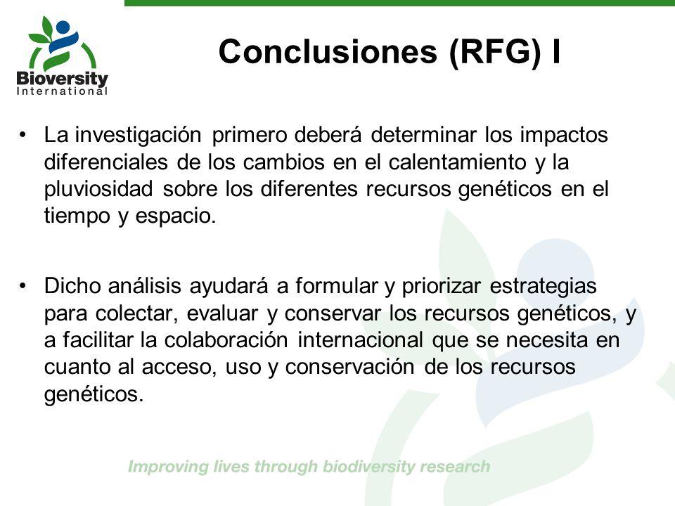 Conclusiones (RFG) I