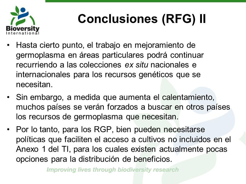 Conclusiones (RFG) II