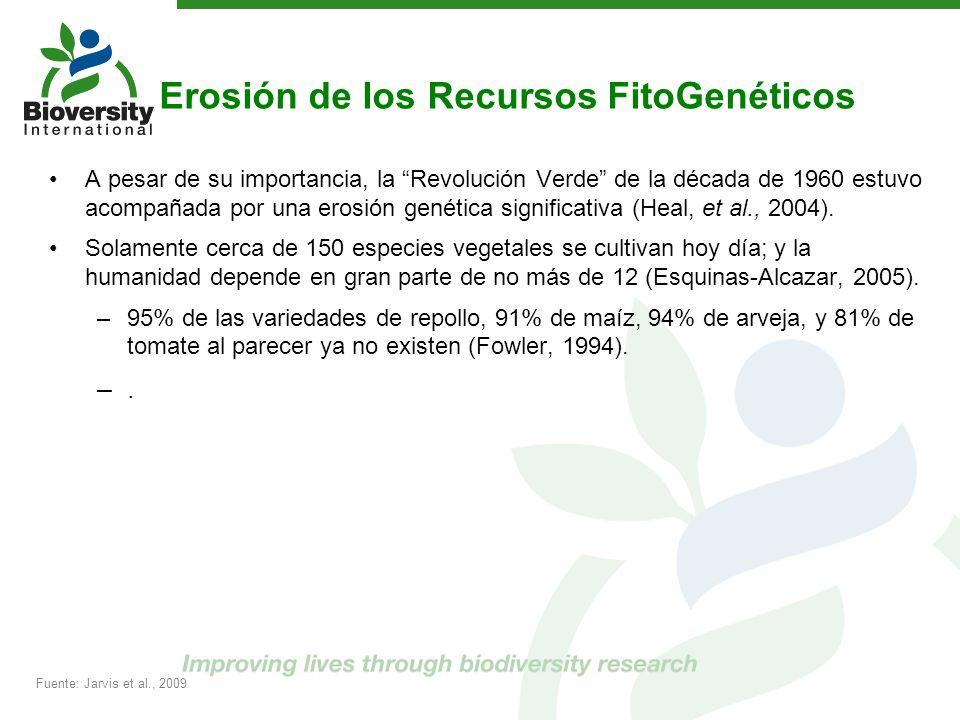 Erosión de los Recursos FitoGenéticos