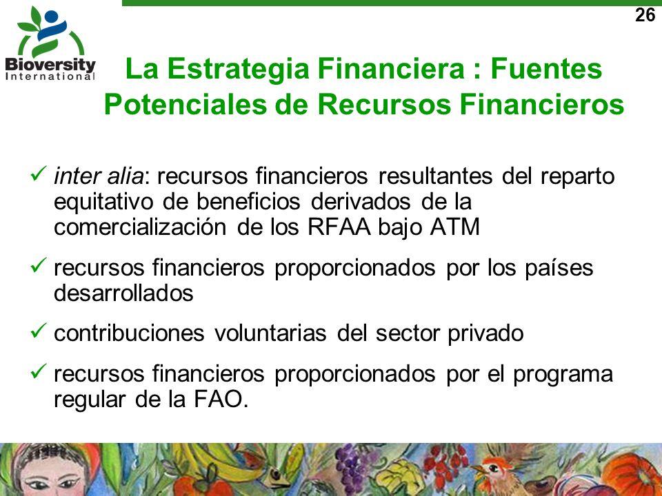 La Estrategia Financiera : Fuentes Potenciales de Recursos Financieros
