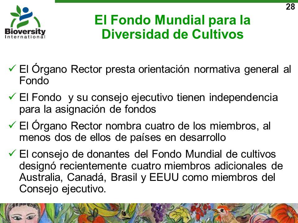El Fondo Mundial para la Diversidad de Cultivos