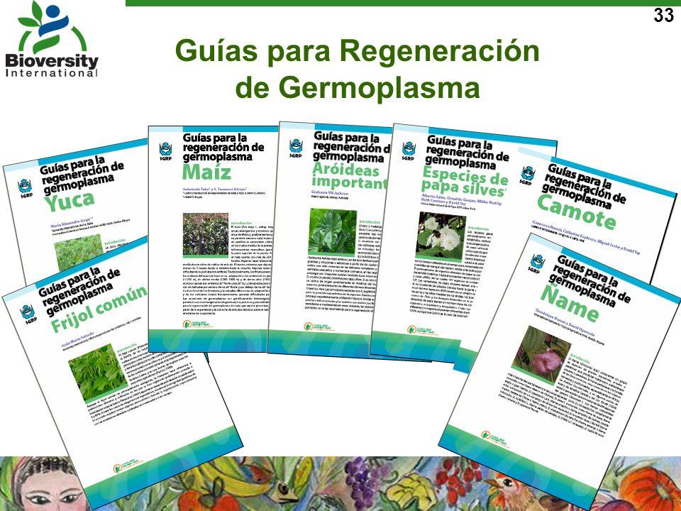 Guías para Regeneración de Germoplasma